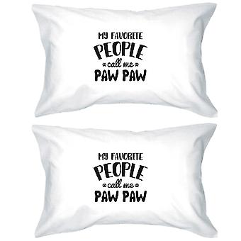 Favorite People Paw Paw Pillowcases Standard Size Pillow Covers