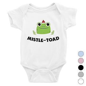 Mistle Toad Funny Christmas Baby Bodysuit Gift Idea