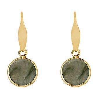 Boucles d'oreilles Gemshine Labradorite goutte 925 argent, or plaqué ou rose