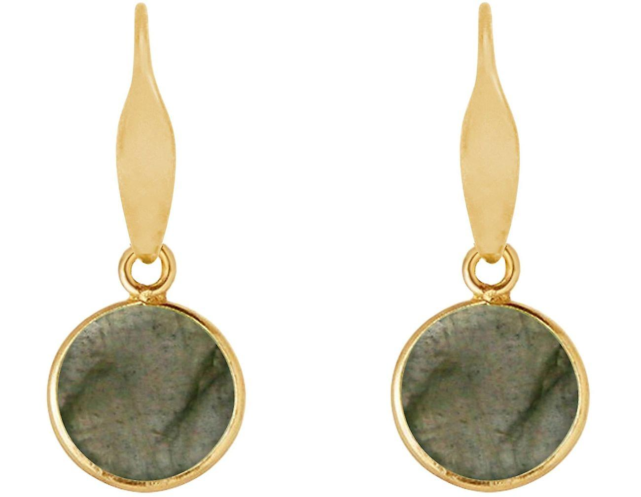 Gemshine Ohrringe Labradorit Edelstein Tropfen 925 Silber, vergoldet oder rose