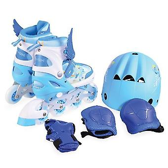 Inliner Children Ponny 2 in 1 blue with protective equipment, size M 34-37 adjustable