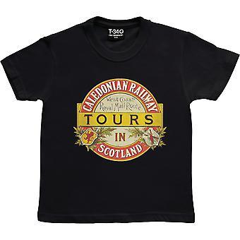 Caledonian Railway Black Kids' T-Shirt