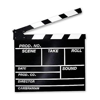 Filmklappe groß  schwarz, aus Holz.