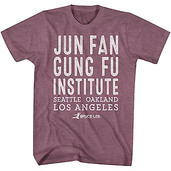 American Classics Bruce Lee Jun Fan Gung Fu Institute T-Shirt - Maroon Heather