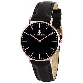 Black Oak Watch BX5890B-803 - Leather Black Box Steel Dor Pink Black Dial Women