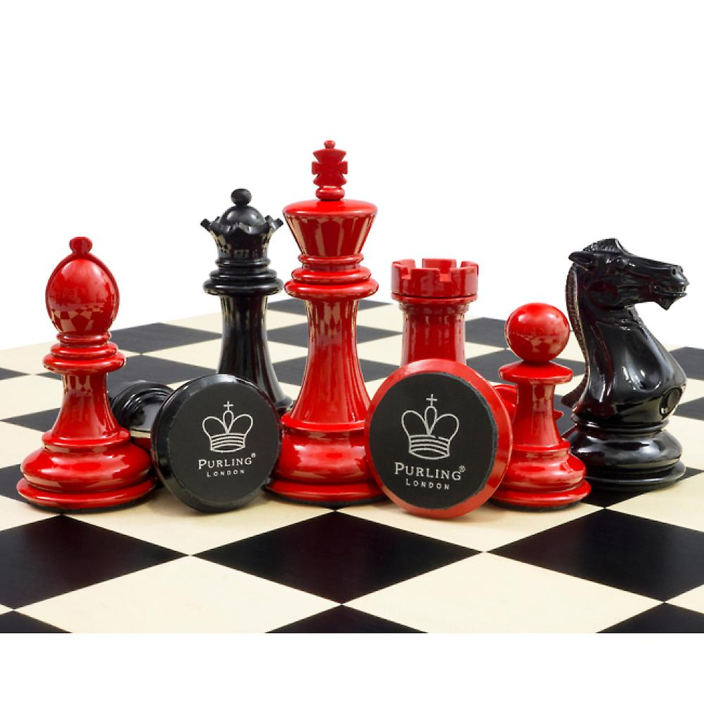 Purling Of London -  Bold Chess Classic Red v Shadow Black