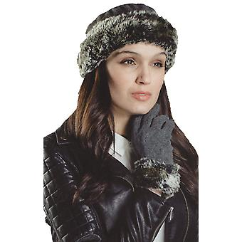 Nieuwe dames Faux Fur Chilton kroon Hat-handschoen Thermal Winter Set