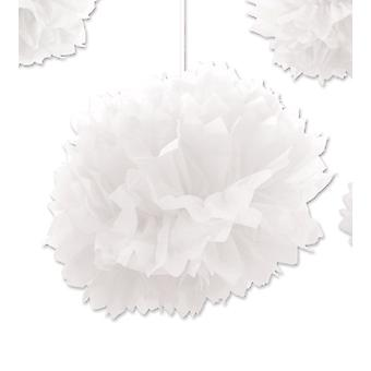 White Paper Fluff Ball Decoratie
