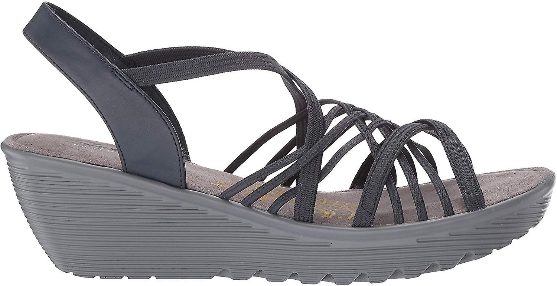 Skechers Parallel Crossed Wires Womens Slingback Wedge Sandals