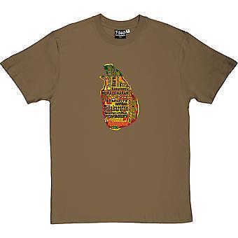 Sri Lanka World Champions 1996 Military Green Men's T-Shirt