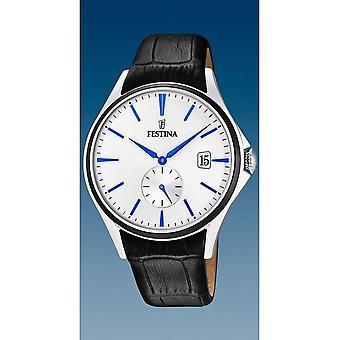 Festina - Wristwatch - Men - F16980/A - Leather Strap Classic