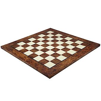 23.6 Inch Briarwood and Elmwood Luxury Chess Board