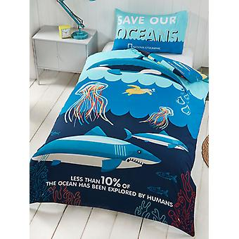 National Geographic Ocean Life Single Dekbed cover Set