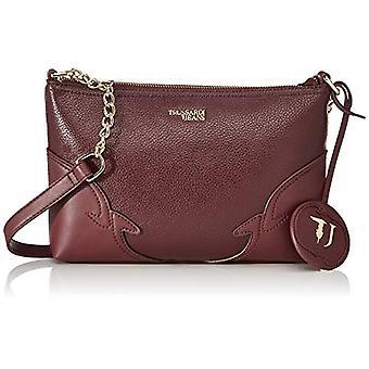 Trussardi Jeans Deco Edge Tote N/s Drummed Eco Red Women's Bag (Burgundy) 18.5x5x26 cm (W x H x L)