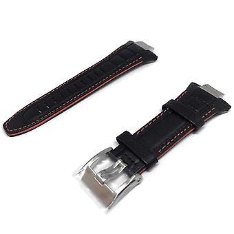 Аутентичные часы seiko ремешок 32 мм теленка - черный 4a1r1jt
