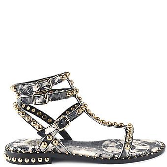 Ash PLAY BIS Sandals Black Leather & Print