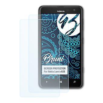 بروني 2x شاشة حامي متوافق مع نوكيا Lumia 625 فيلم واقية