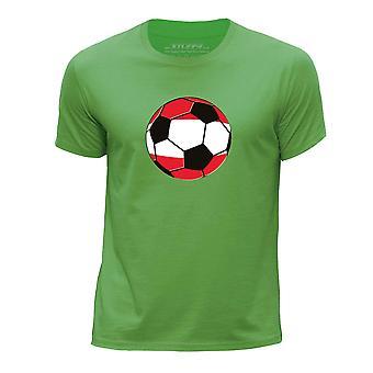 STUFF4 Boys rund hals T-Shirt/Østrig/Østrigske fodbold/grøn