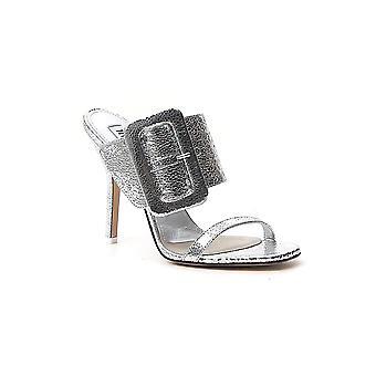 Attico 192ws013l011002 Kvinnor's Silver Läder Sandaler