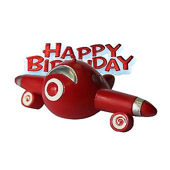 Anniversary House Happy Birthday Aeroplane Cake Decoration Topper