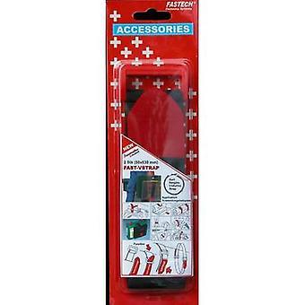 FASTECH® 906-330C Krok-och-slinga tejp med rem Krok och slinga pad (L x W) 630 mm x 50 mm Svart, Röd 2 st)