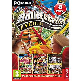 RollerCoaster Tycoon 8 Pack - 1 2 ja 3 Plus useita virallisia laajennuspaketteja (PC CD) - Uusi