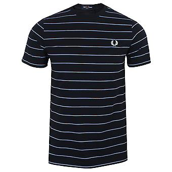 Fred perry men's navy fine stripe t-shirt