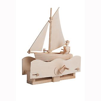 Timberkits Salty Sailor Kit - Wooden Moving Model Self Assembly Construction Gift