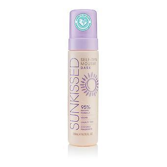 Sunkissed Self Tan Mousse Dark 200ml 95% Natural - Vegan - Cruelty Free - Coconut Fragrance - V2020