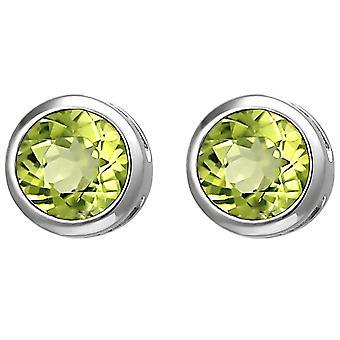Ohrstecker 925 Sterling Silber 2 Peridote grün Ohrringe