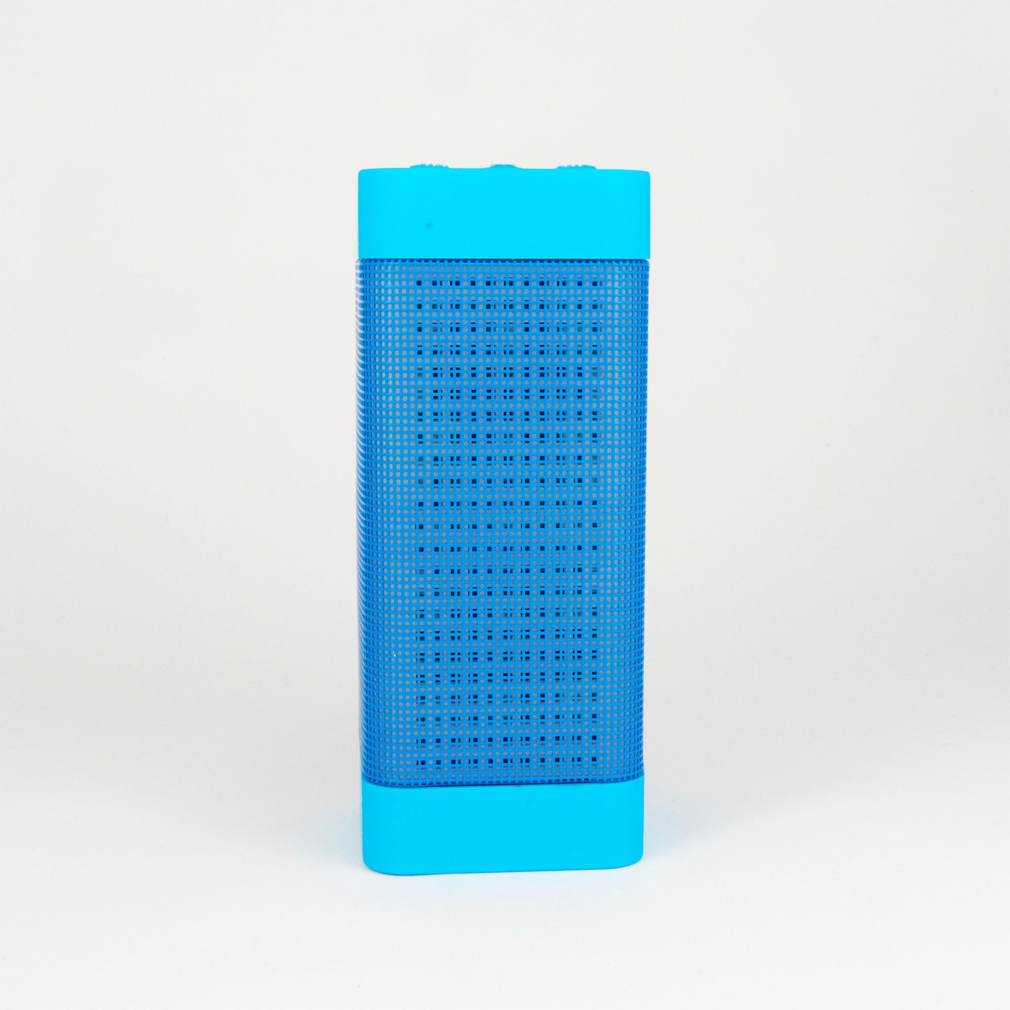 Wireless Bluetooth Speaker with Colorful LED Light Disc Dancing - Blue