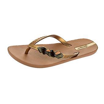 Ipanema Premium Gem Premium Womens Flip Flops / Sandals - Brown Gold