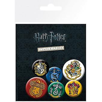 Harry Potter Crests Pin Düğme Rozetleri Seti