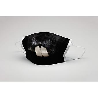 Száj maszk kutya nyuszi fogak mosható maszk védő maszk kutya maszk ökotex