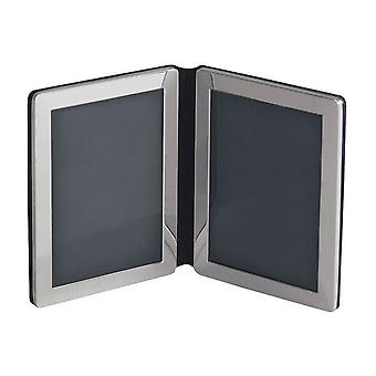 Orton West Double Photo Frame 5x7 - Silver
