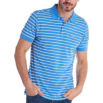 Barbour Men's Styhead Stripe Polo T-Shirt Tailored Fit Blue