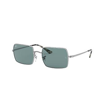 Ray-Ban Rectangle RB1969 9197/56 Silver/Azure Mirror Blue Sunglasses