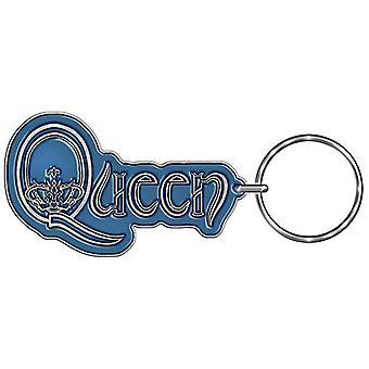 Dronning Keyring klassiske crest band logo nye officielle sølv
