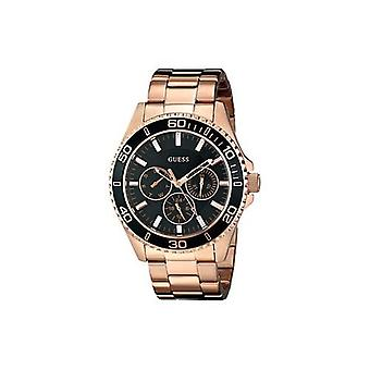 Guess U0231L7 Sporty Rose Gold-Tone with Black Multi-Function Dial Ladies Watch