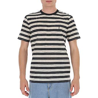 Saint Laurent 633108ybuq21248 Men's Wit/grijs Katoen T-shirt