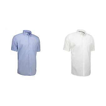 ID Mens Oxford chemise manche courte moderne Fit