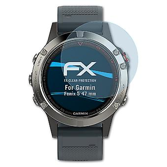 atFoliX 3x Protective Film compatible with Garmin Fenix 5 47 mm Screen Protector clear&flexible