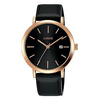 Lorus RH934JX-9 Black Leather Strap Wristwatch