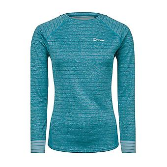 Berghaus Thermal Tech Womens Long Sleeve Crew Sweatshirt Jumper Turquoise