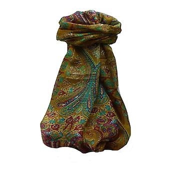 Maulbeerseide traditionelle lange Schal Yaar Kastanie von Pashmina & Seide