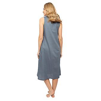 Cyberjammies Nora Rose Emelia 1428 Women's Grey Woven Clip Jacquard Nightdress