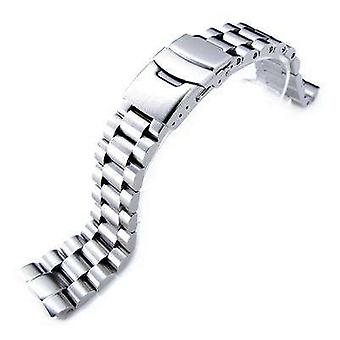 Strapcode watch bracelet 22mm endmill 316l stainless steel watch bracelet for seiko new turtles srp777 , padi srpa21 diver clasp brushed