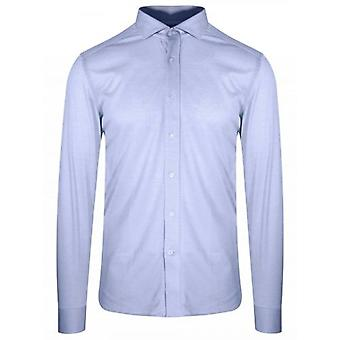 CC Collection Corneliani Blue Long Sleeve Spread Collar Shirt