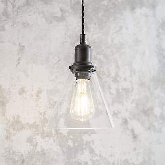 Garden Trading Hoxton Cone Glass & Antique Bronze Pendant Light