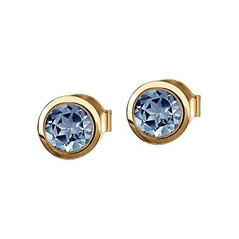 Jacques Lemans - Studs sterling silver plated with Topaz - SE-O101H